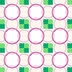 Celtic Rings - Pink Green