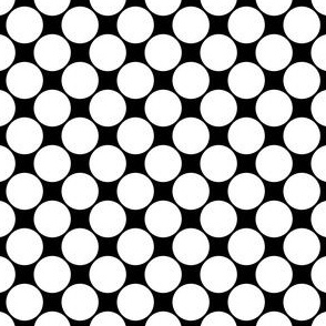 Biggish Spots - White on Black