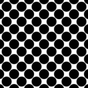 Biggish Spots - Black on White