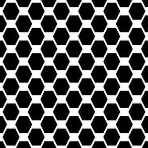 Medium Hexes - Black on White