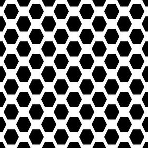 Small Hexes - Black on White