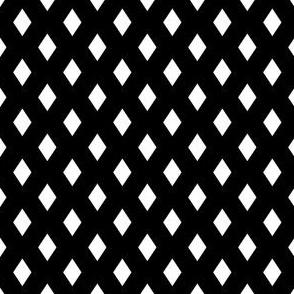 Medium Diamonds - White on Black