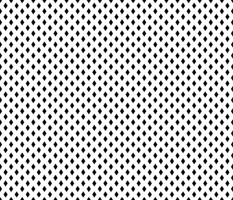 Medium Diamonds - Black on White fabric by ameliae on Spoonflower - custom fabric