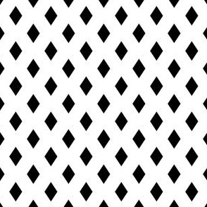 Medium Diamonds - Black on White