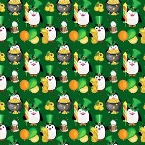 St Patrick's Day penguins