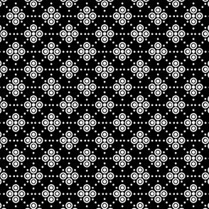 Dots and Spots - White on Black