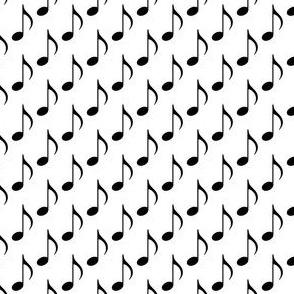 Music Notes - Black on White