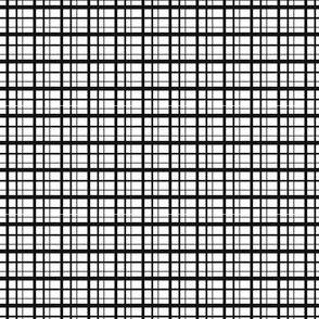 Plaid-style Stripes - Black on White