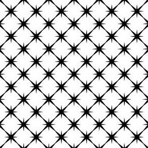 Star Grid - Black on White