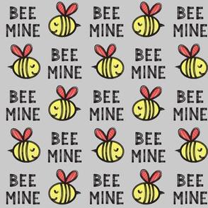 Bee Mine (red) - grey 2 - valentines day