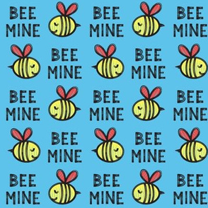 Bee Mine (red) - blue 2 - valentines day