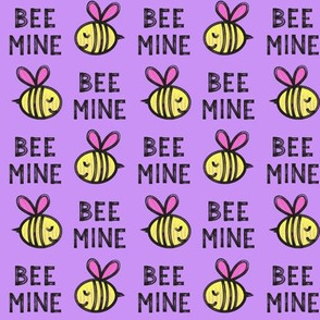 Bee Mine - purple 2 - valentines day