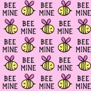 Bee Mine - pink 2 - valentines day