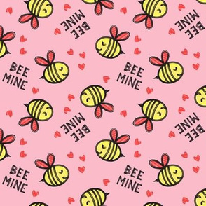 Bee Mine (Red)  - Pink - valentines day