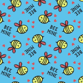 Bee Mine (Red)  - Blue - valentines day