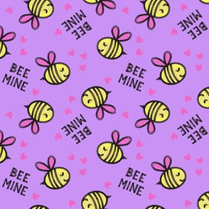 Bee Mine - Purple - valentines day