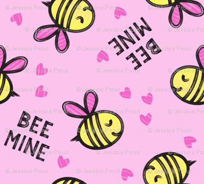 Bee Mine - Pink - valentines day