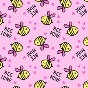 Bee Mine - Pink - valentines day