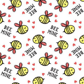 Bee Mine (Red) - valentines day