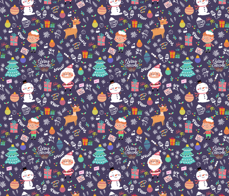 Merry Merry Christmas fabric by bitto718 on Spoonflower - custom fabric
