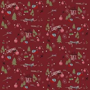 MQ9 Christmas on red