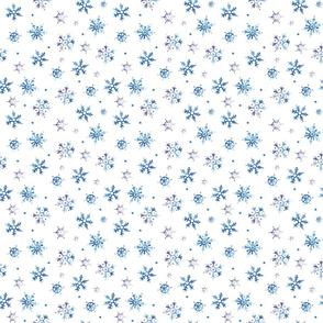 Watercolor Snowflakes Smaller