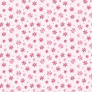 Watercolor Snowflakes Red Smaller