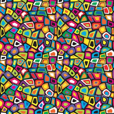 1960 Mod Mosaic Geo Tiles