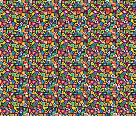 1960 Mod Mosaic Geo Tiles fabric by fabric_is_my_name on Spoonflower - custom fabric