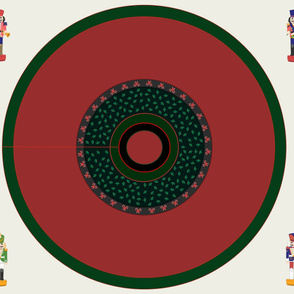 Ready to embroider, Blank Christmas tree skirt