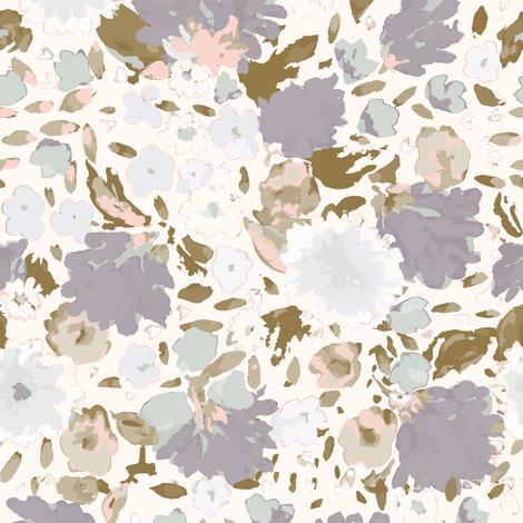 FallFloralPattern_Mauve_spoonflower fabric by b__woolf on Spoonflower - custom fabric