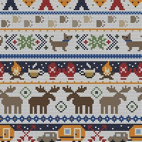 Fair Isle Happy Camper // Winter Wonderland with Woodland Animals
