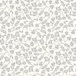 Wildflowers - silver gray-