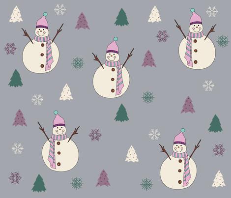 Sweet Snowman. fabric by maria81 on Spoonflower - custom fabric