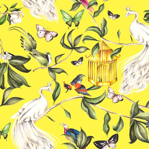 Yellow Chinoiserie