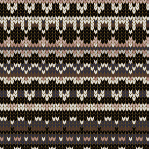 Fair Isle Winter in Black
