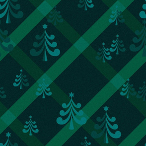 christmas trees in emerald