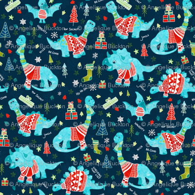 Dinosaurs in Sweaters