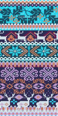 My favorite sweater | cyan and purple