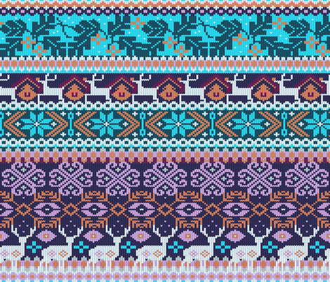 My favorite sweater | cyan and purple fabric by camcreative on Spoonflower - custom fabric