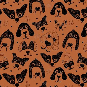 Dogs are awesome cool puppy love animal design black ink on copper