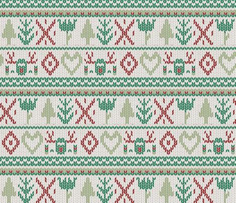 fair isle knit xmas fabric by laurawrightstudio on Spoonflower - custom fabric