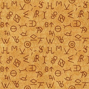 Small Cattle Brands on Leather