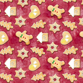 Gingerbread Cookie Pattern Rotated