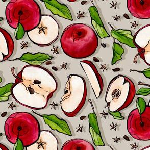 Harvest Apple Tea Towel