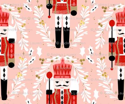 MINI nutcracker fabric - christmas fabric, holiday fabric, xmas fabric, cute christmas fabric by the yard