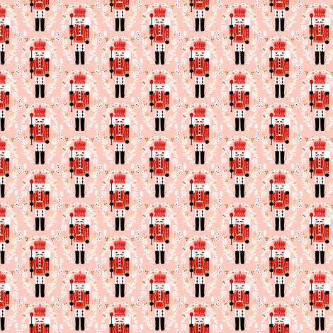 MINI nutcracker fabric - christmas fabric, holiday fabric, xmas fabric, cute christmas fabric by the yard fabric by andrea_lauren on Spoonflower - custom fabric