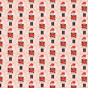MINI nutcracker fabric - christmas fabric, holiday fabric, xmas fabric, cute christmas fabric by the yard
