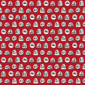 MINI -  snowglobe fabric, christmas fabric, snowglobe design, christmas fabric by the yard- tiny print