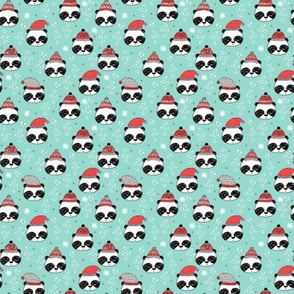 MINI panda christmas print - winter panda fabric, panda fabric by the yard, christmas panda, cute kawaii fabric, andrea lauren fabric, mini print, tiny print, small print - light